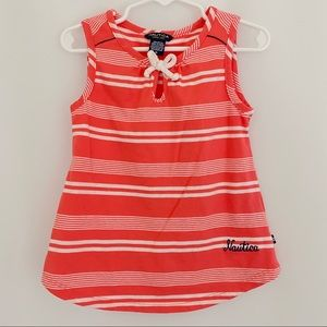 Girl's Nautica Orange Striped Tank Top